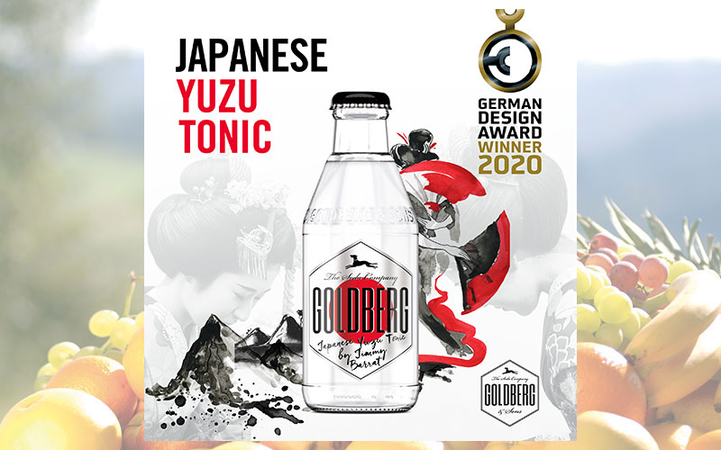 GOLDBERG Japanese Yuzu Tonic gewinnt German Design Award 2020